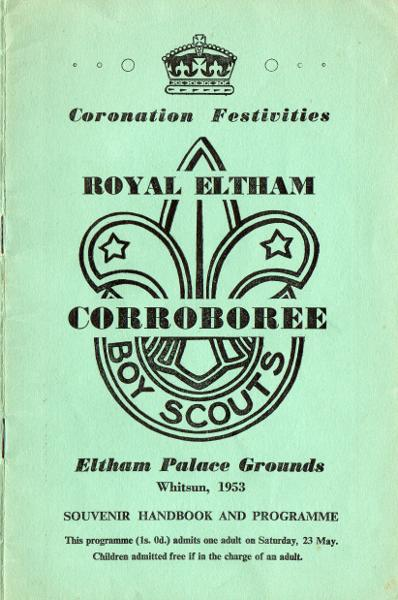 Royal Eltham Scouts Corroboree, Eltham Palace Grounds, Whitsun 1953